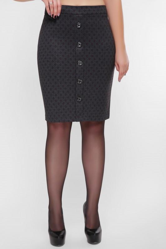 Женская модная юбка с пуговицами впереди (2 цвета)