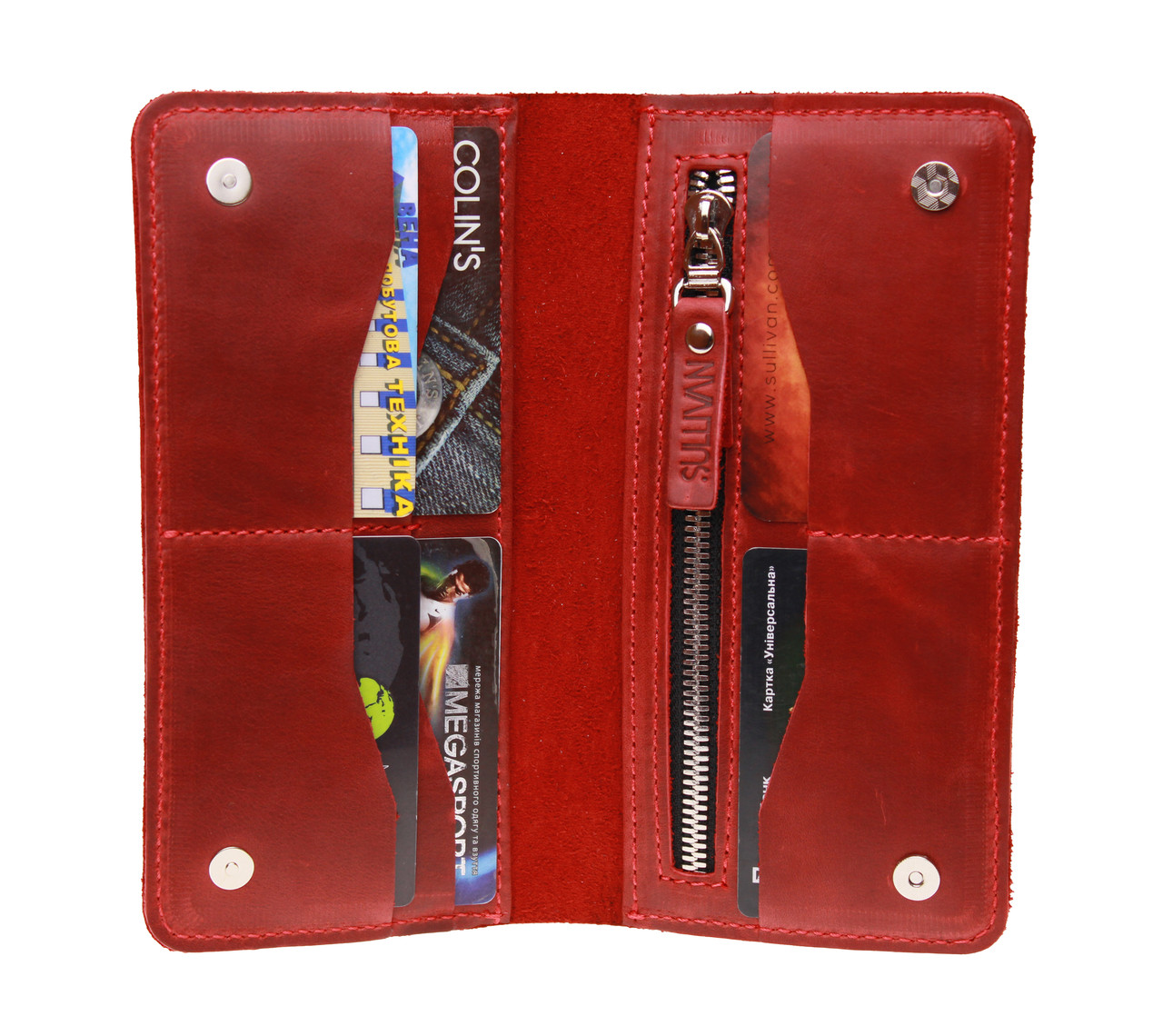 9919c7168139 Кошелек женский кожаный большой купюрник для денег портмоне картхолдер кожа  SULLIVAN ...
