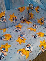 Комплекты в кроватку для новорожденных ''Мишки на звездах''