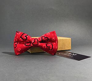 Галстук-бабочка I&M Craft с сердечками (010229), фото 2