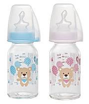 Стеклянная антиколиковая бутылочка со стандартным горлышком Nip, 125 мл