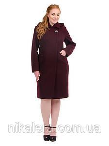 Женское пальто ботал с капюшоном рр 48-62
