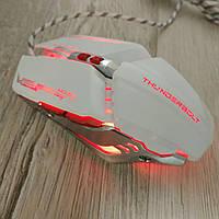 Игровая мышка Aquipment Master 8D LED подсветка Gaming USB 2.0 геймерская и компьютерная белая