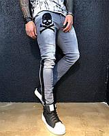 Мужские джинсы с черными полосками black island cd133da9e37ee