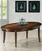 Журнальный столик Калифорния CF-CT овальный классический, столешница инкрустированна шпоном