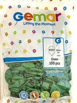 "Шар воздушный GM90 #037 зеленыйметаллик 10"" 26см, 100шт Gemar"