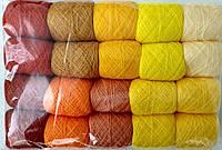 Акриловая нитка для вышивки (желто-оранжевый)