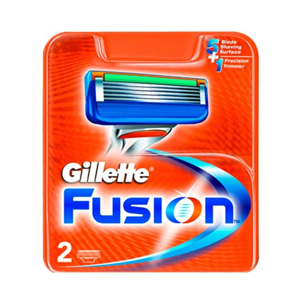 Сменные кассеты Gillette Fusion - 2 шт (Оригинал)