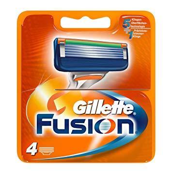 Сменные кассеты Gillette Fusion - 4 шт (Оригинал)