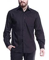 Классическая рубашка мужская чёрная