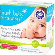 Дентальні серветки з ксилітом малюкам від 0-16 місяців Dental Wipes Brush-baby (25 шт)