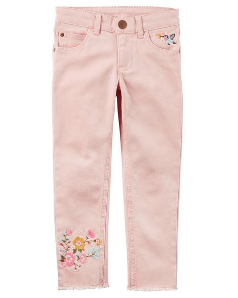57dcbb716ed Джинсы скинни с вышивкой для девочек от бренда Carter s (США ...