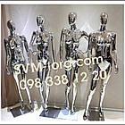 Женский манекен хромированный серебро, фото 3