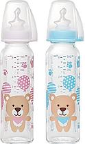 Стеклянная антиколиковая бутылочка со стандартным горлышком Nip, 250 мл