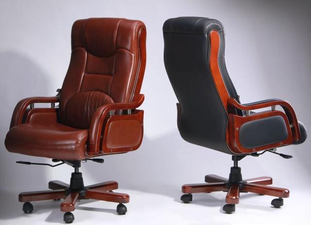Кресло Ричмонд, кожа черная (642-B+PVC) ассортимент, фото 2