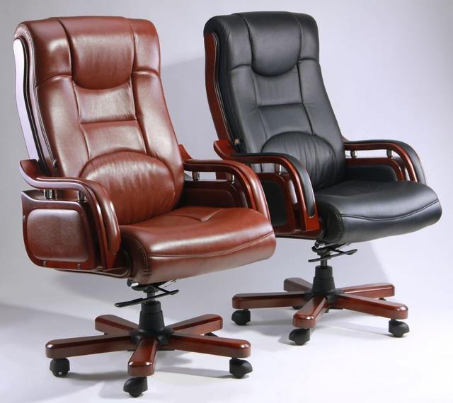 Кресло Ричмонд, кожа черная (642-B+PVC) ассортимент, фото 3