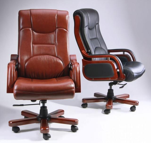 Кресло Ричмонд, кожа черная (642-B+PVC) ассортимент, фото 4