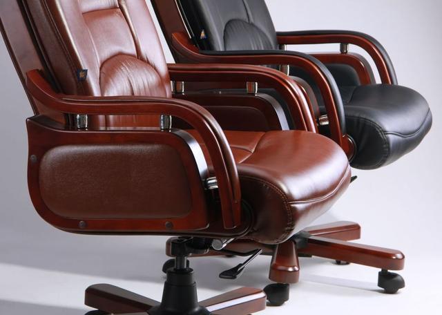 Кресло Ричмонд, кожа черная (642-B+PVC) ассортимент, фото 5