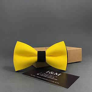 Галстук-бабочка I&M Craft двухцветный жёлтый с чёрным (00033), фото 2