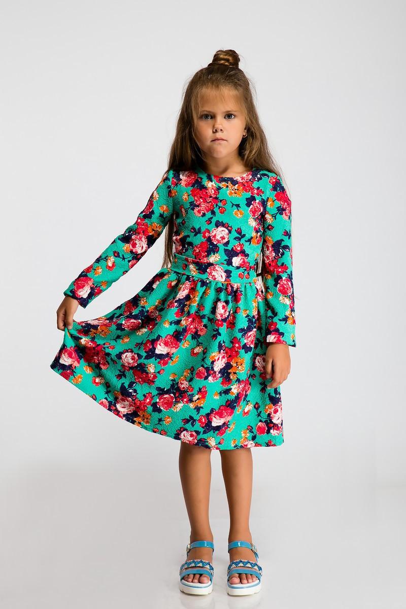 Платье LiLove 2-109 122 бирюзовый