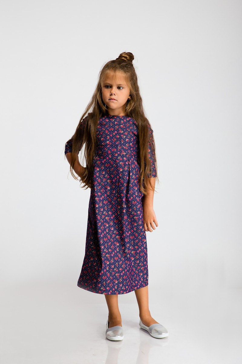 Платье LiLove 2-105 116 синий