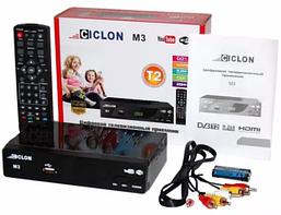 """Цифровий ефірний ресивер T2 """"CICLON M3"""" FULL HD Metal"""