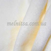 Ткань флис, 50 х 50 см, плотность 200, полиэстер 100%, цвет молочно-кремовый,