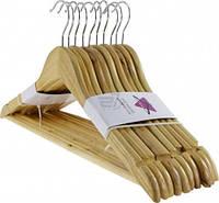 Вешалка плечики тремпель для одежды набор 10 шт
