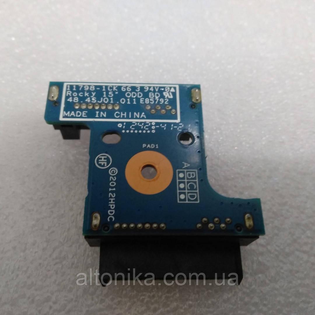 Дополнительная плата для HP ProBook 4540s 4545s DVD Connector HannStar 11798-1CK 48.4sj01.011