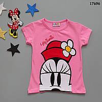 Футболка Minnie Mouse для девочки.  86-92;  98-104;  110-116;  122-128 см, фото 1