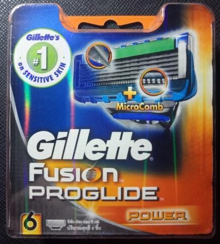 Сменные кассеты Gillette Fusion ProGlide Power - 6 шт (Оригинал)