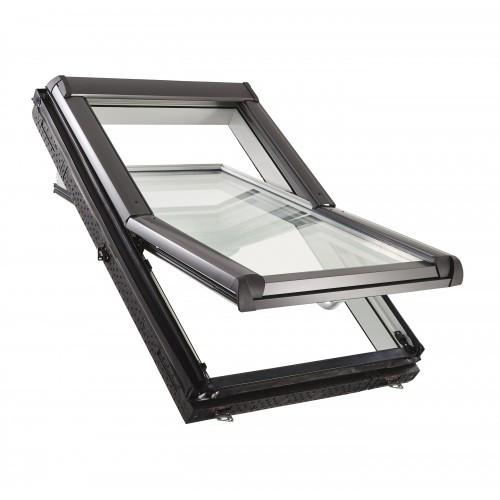 Мансардне вікно ROTO Designo R4 WDF R45 K WD вологостійке Мансардное окно Рото 4 серии ПВХ с WD блоком
