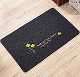 Коврик «Желтый цветок» 45×70 см вышивка темно-серый, фото 2