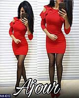 Платье приталенное с воланами, фото 1