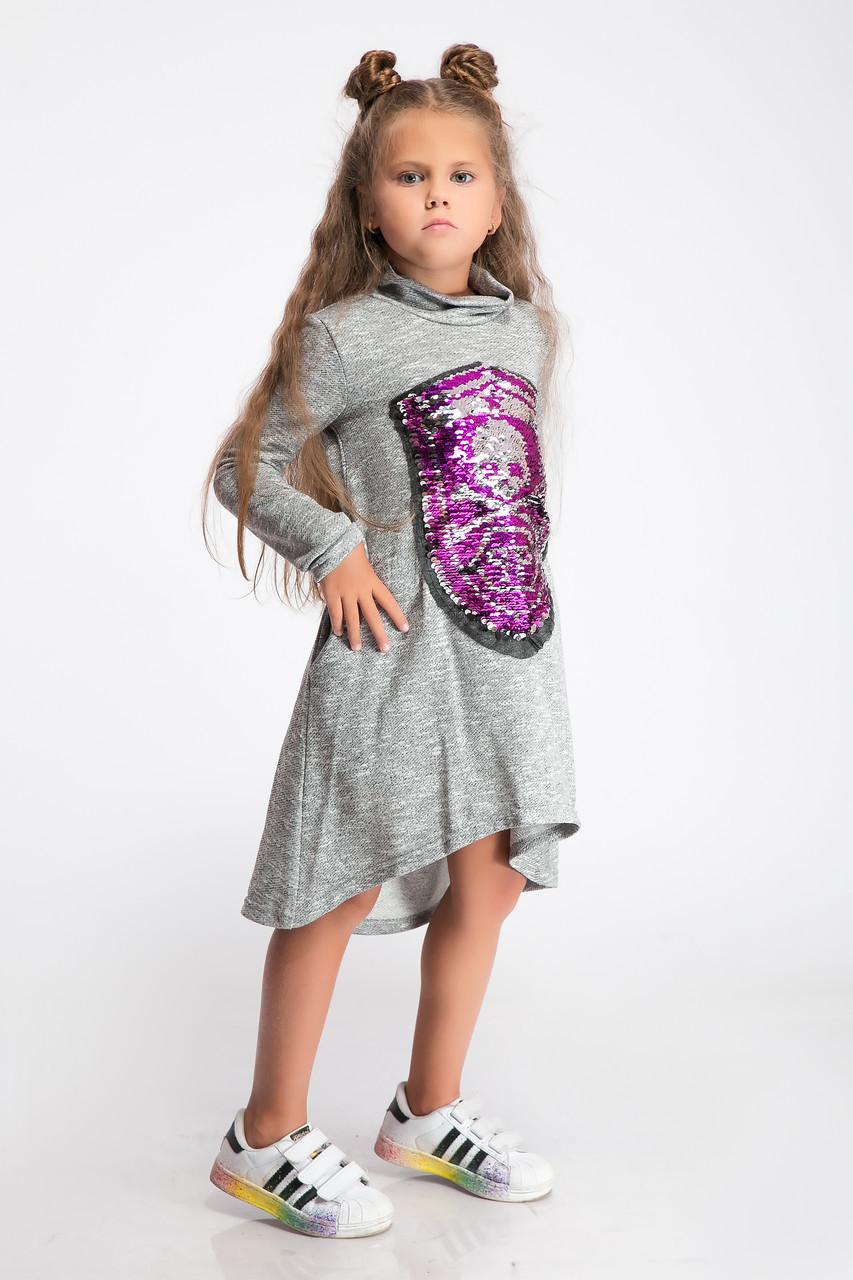 Платье  LiLove 2-115-5 122 серый