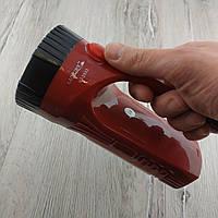 Ручной светодиодный фонарь Luxury YJ-2833 Аккумуляторный красный фонарик для дома кемпинга или рыбалки
