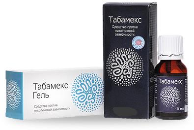 Табамекс - Комплекс (Капли+Гель) от никотиновой зависимости 30 мл + 10 мл