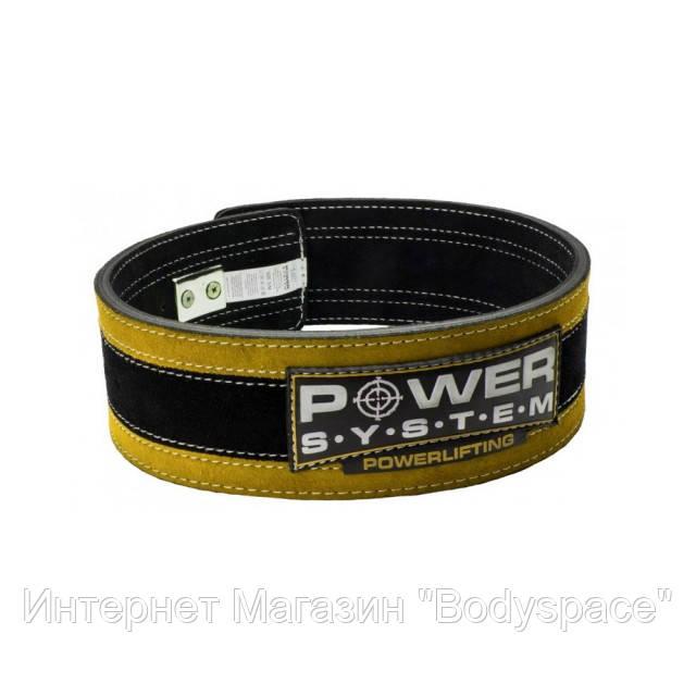 Power System, Пояс для пауэрлифтинга и тяжелой атлетики PS-3840 StrongLift Black-Yellow с карабином
