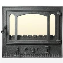 Каминная дверь Панорамик Большая с перегродкой  580 х 490 мм