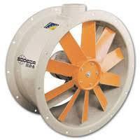 Осьові вентилятори,настінні або круглі в циліндричному корпусі з листової сталі НСТ-63-4/8Т-1/АL