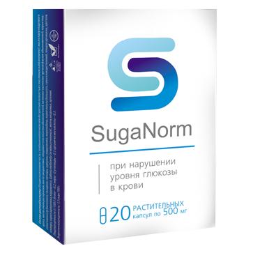 SugaNorm - Капсулы от нарушения уровня глюкозы в крови (ШугеНорм) 20 шт, фото 2