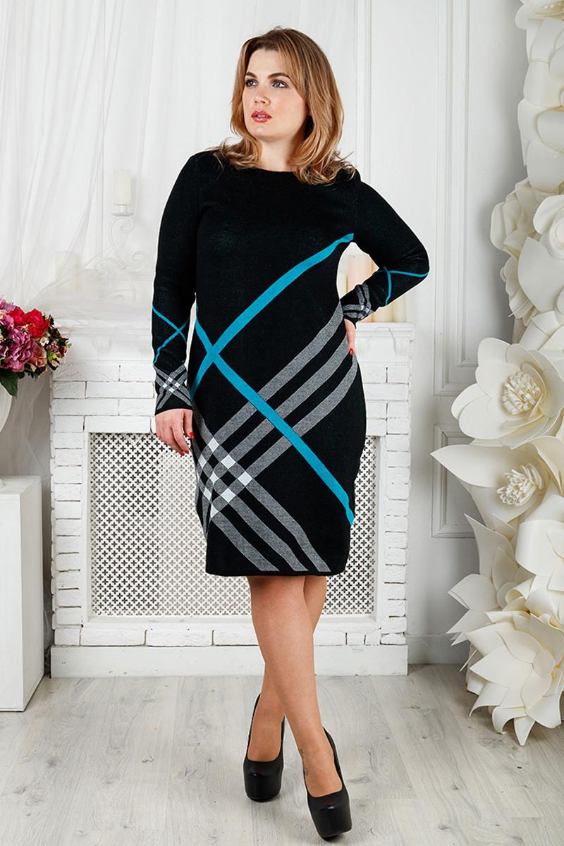 325424b70f517ff Вязаное теплое платье для полных Николь - V Mode, прямой поставщик женской  одежды в Харькове