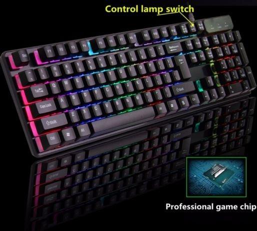 Клавиатура профессиональная игровая радио  с подсветкой KR 6300