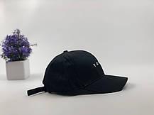 Кепка бейсболка Youth (черная) застежка пластик, фото 2