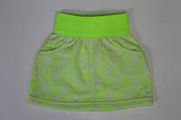Стрейчевая  юбка с гипюром для девочек 6 и 10 лет