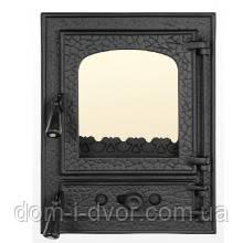 """Дверцы(дверки) печные со стеклом """"Квадрат""""для кухни,барбекю.Поддувало регулируемое"""