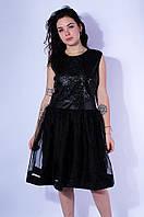 Платье женское черное размер L 3028, фото 1