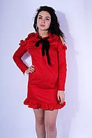 Платье женское красное 2995