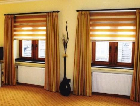 Креативное оформление окна - шторы Делайт