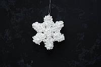 Снежинка белая обьемная большая 1 шт, фото 1